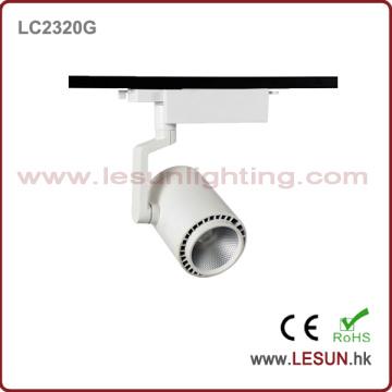 Vendas quentes 20W branco / preto COB Track Light para Museu LC2320g