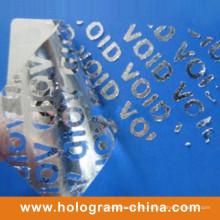 Silver Aluminum Embossing Tamper Proof Void Foil