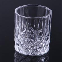 Стеклянная свечная чашка с тиснением