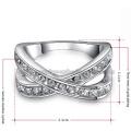 Chapeamento de platina passou pela encantadora das mulheres anéis