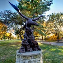 fundição de bronze fundição artesanato de metal grande escultura de águia de bronze