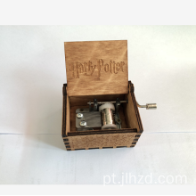 Caixa de Música Handcrank Harry Potter Wooden Music Box