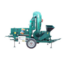 Wheat seed cleaning machine with wheat huller
