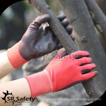 SRSAFETY 13G nylon liner palm coated PU working glove/pu coated hand gloves