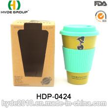 Copo De Café De Fibra De Bambu Biodegradável Portátil Não-Tóxico (HDP-0424)