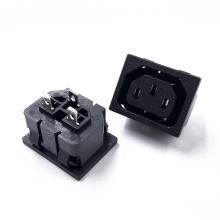JR-121S-G High Quality China 10A 250V AC 3-Way Power Plug Socket Electronic Outlet Female Connectors Adapter Socket