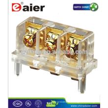 Daier KAR 403 3 vías Conector de bloque de terminales de altavoz con tornillo de bloque de terminales chapado en oro