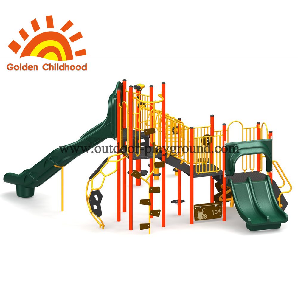 Orange And Green Outdoor Playground Fit For Children