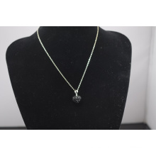 Low price Shamballa Necklace Wholesale Heart Shape New Arrival Crystal Clay Shamballa With Silver Chains Necklace