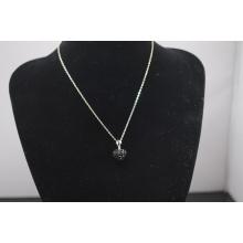 Ожерелье Shamballa низкой цены оптовой формы сердца новое кристаллическое Shamballa прибытия с ожерельем серебряных цепей