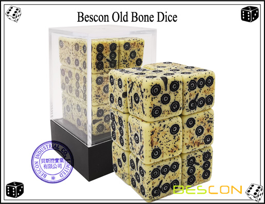 Bescon Old Bone Dice-3