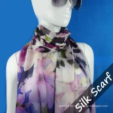 Lenço longo personalizado com tecido de seda