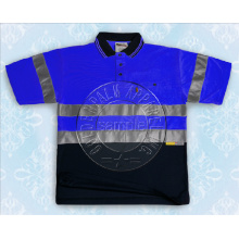 Short Sleeve Safety Polo Shirt with Reflective Tape