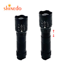 Waterproof High Power Rechargeable Super Bright Zoom Powerful Torch Tactical led Pocket Military Flashlight