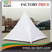 8m solide weißes Polyester-Sternschutzzelt mit komplett geschlossenen weißen Seitenabdeckungen