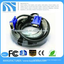 Позолоченный / никелированный HD15pin 3 + 6 VGA-VGA-кабель для проектора, ЖК-экран 1,5 м, 1,8 м, 2 м, 3 м, 5 м, 10 м, 20 м, 30 м, 40 м, 50 м, 60 м ...