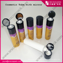 wholesale plastic tube containers for hand cream with mirror