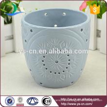 Flor de diseño moderno cerámica tealight vela titular