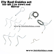 Direct Factory Rod Building Componets Silver Fly Rod Guide Set