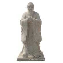 Chinesische Traditionsmarmorstatue Konfuziusstatue für Verkauf