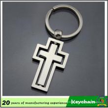 Atacado Cross Design Design Metal Blank Keychain