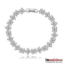 Bracelets à chaîne Lucky Clover en argent sterling pour filles (CBR0012-B)