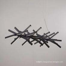 Home decorative black white led pendant light high lumen wave shaped italy design modern pendant light
