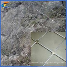 China-Fabrik-Versorgungsmaterial-heißer Verkaufs-flexibler Metallineinander greifen-Gewebe / Edelstahl-Draht-Seil-Ineinander greifen-Netz, Hang-schützende Abschirmung