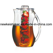 Shatterproof Acrylic Infused Water Pitcher Flavored Infusion Drinks Fresh Healthy Homemade Fruit