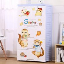 Cartoon Happiness Squirrel Design Plastic Drawer Cabinet (26083)