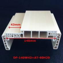 Chegada nova um Jamb Df-140W43 da porta do bolso da porta espumada do quadro de porta do estilo WPC