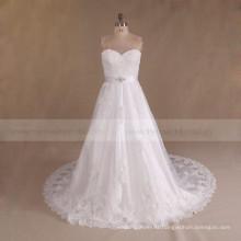 Alibaba Sweetheart Cheap Beaded Plus Size Wedding Dress 2017