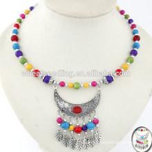 Antique ramel drop collar palestine necklace