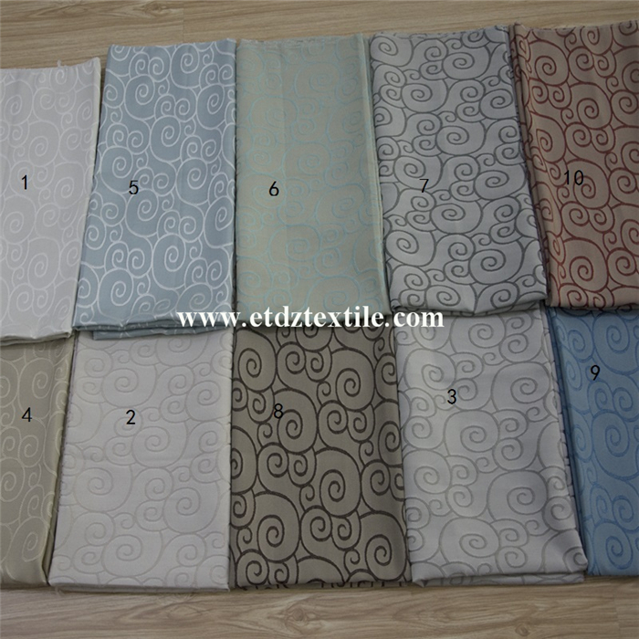 Typical Chinese Wind Design Jacquard Yarn Dyed Curtain Fabric WZQ200