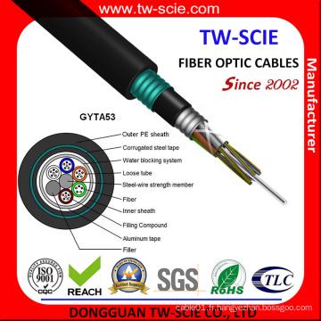 GYTA53 Câble à fibre optique enterré direct GYTA53