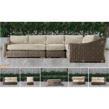ALAND COLLECTION - 2017 Ensemble de canapé d'angle en résine PE en résine PE pour meubles de jardin extérieur