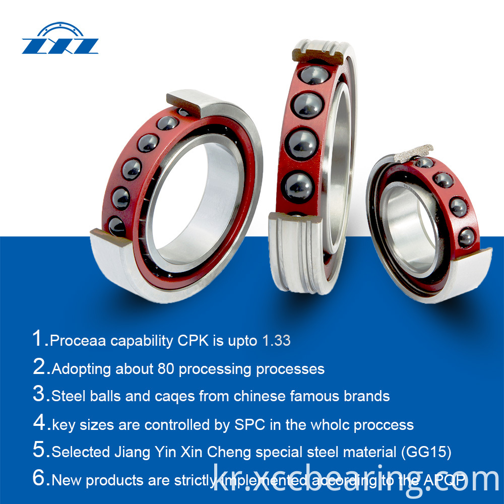 High Precision Sealed Angular Contact Ball Bearings type