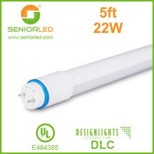 160lm / W Super Lúmenes T8 LED tubo con cubierta de plástico