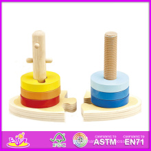 2015 New Children Wooden Stacking Toy, Popular Baby Wooden Stacking Toy, Market Newly Small Wooden Stacking Toy for Kids W13e010