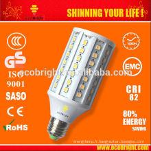 CHAUD! Conduit de lumière de maïs blanc chaud 13W E27 maïs lampes 50000 CE qualité