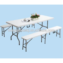 Outdoor Portable 6ft HDPE Plastic Folding Bench