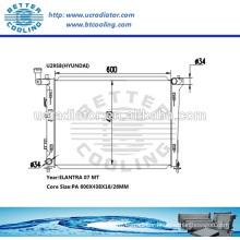 Radiator For Hyundai Elantra 07- MT OEM:253102H000