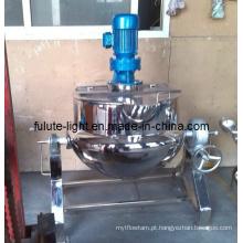 SUS304 panela misturadora de cozedura industrial a vapor