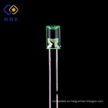Precio competitivo 5mm diodo led cóncavo super brillante verde
