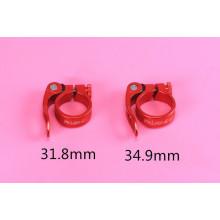 RISK peças de bicicleta braçadeira de assento AL6061 grampos 31.8 / 34.9 mm peça de bicicleta braçadeira de banco de bicicleta de liberação rápida MTB 5 cores