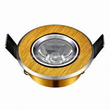 Acolchado de Oro 1W de alta potencia LED de techo de luz CE y RoHS