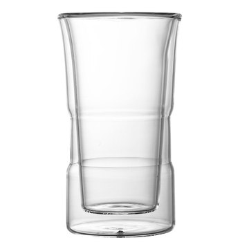reusable clear borosilicate glass drinking coffee  cup insulated glasses  hot beverage mugs