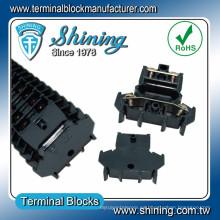 TD-025 DIN Rail montado de doble nivel de 25 amperios conector de cable de audio