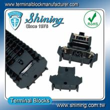 ТД-025 DIN-рейку двойной уровень 25 Ампер Аудио Разъем кабеля
