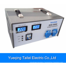 Voltage Stabilizer SVC-5000 with rotary switches, LCD meter display and circuit breaker